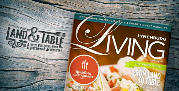 Land and Table featured in Lynchburg Living