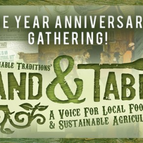 Join us for the one year Land and Table anniversary!