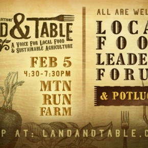 Local food leaders forum