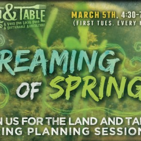 Land and Table Network: March Gathering