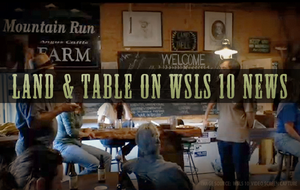 Land and Table on WSLS 10 News