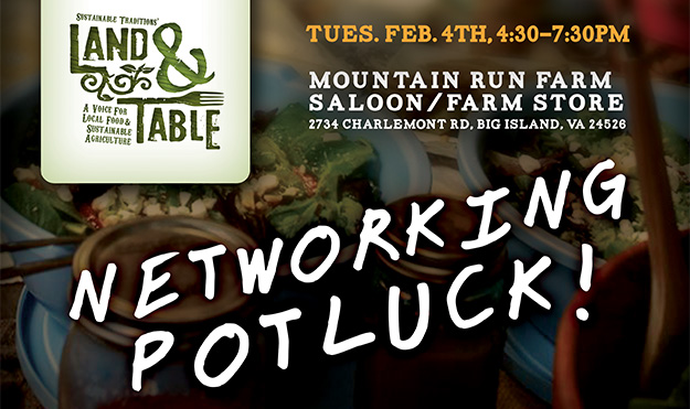 Land and Table: Networking Potluck | Feb. 4