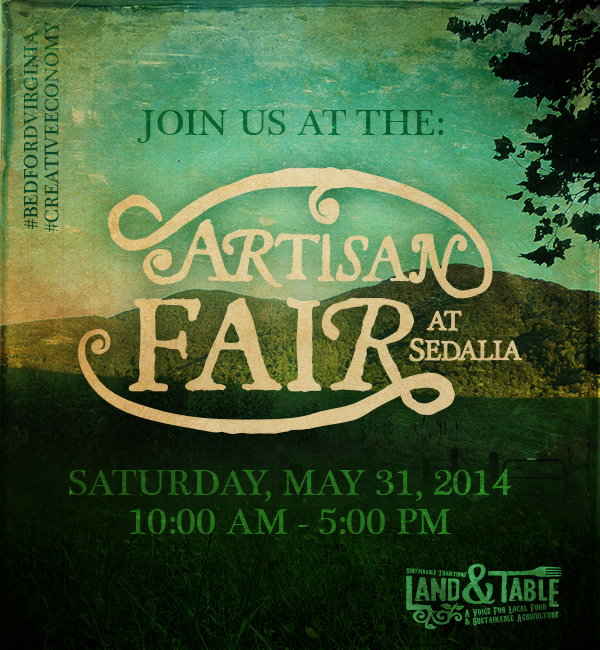 Land and Table at Artisan Fair This Saturday