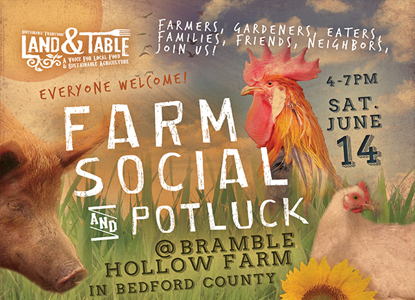 Farm Social and Potluck at Bramble Hollow Farm | June 14th