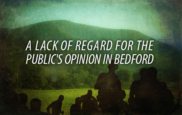 A Lack of Regard for the Public's Opinion in Bedford (via News and Advance)