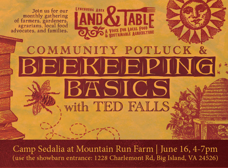 Community Potluck and Beekeeping Basics – June 16