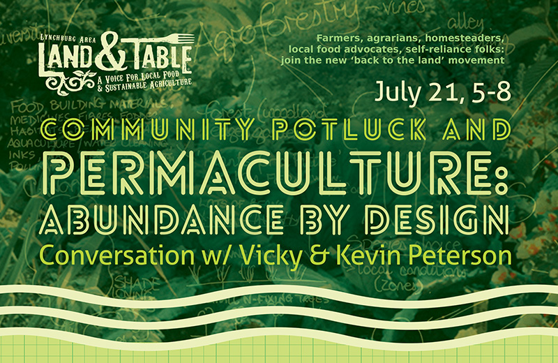 Potluck and Permaculture Conversation – July 21