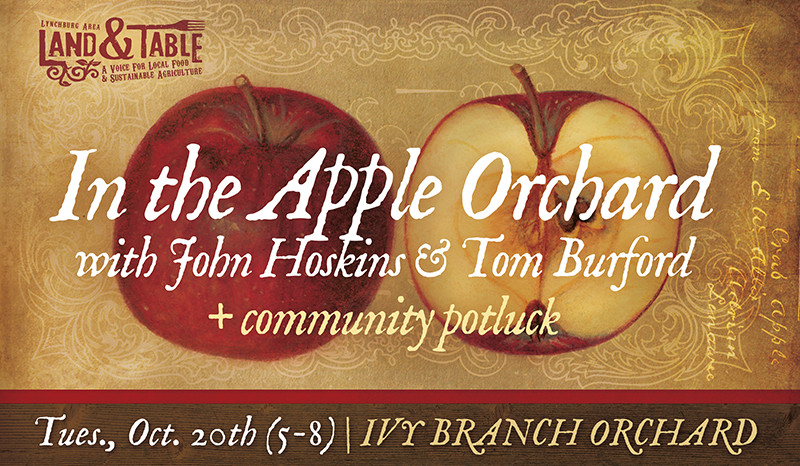 In the Apple Orchard with John Hoskins and Tom Burford – Oct. 20th