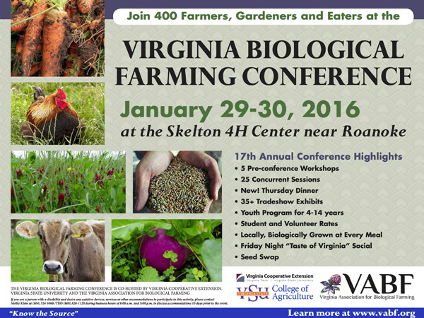 VABF annual farming conference flyer