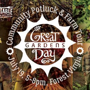 Potluck and Farm Tour at Great Day Gardens - July 19
