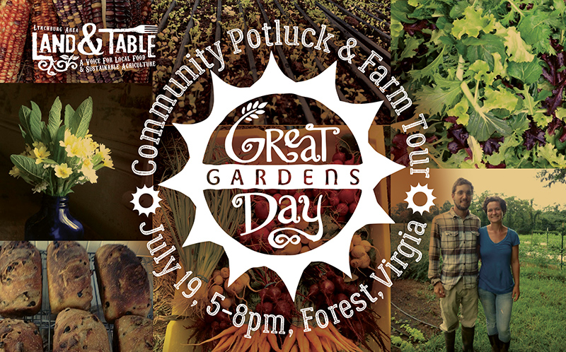 Potluck and Farm Tour at Great Day Gardens – July 19
