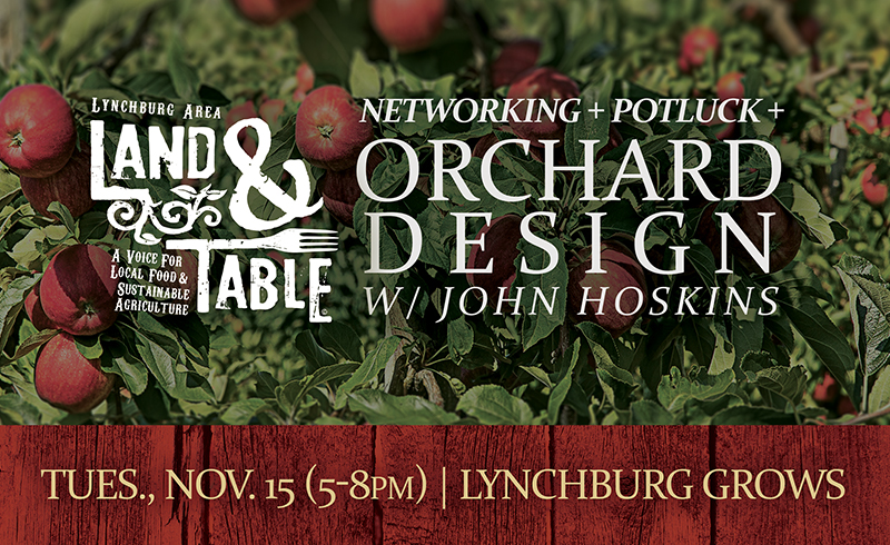 Networking Potluck and Orchard Design with John Hoskins – Nov. 15