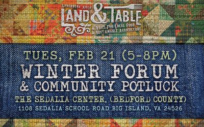 Winter Forum and Community Potluck – Feb. 21