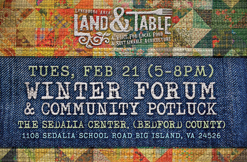 Winter Forum and Community Potluck – Feb. 21