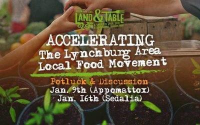 Accelerating the Lynchburg Area Local Food Movement: Jan. 9th and 16th