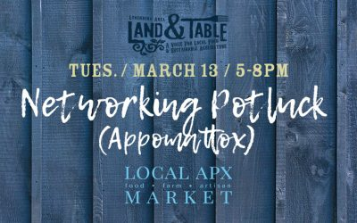 Networking Potluck – March 13 (Appomattox)