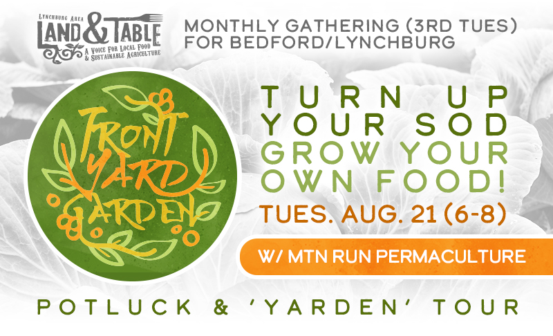 Front Yard Garden: w/ Mtn Run Permaculture – Aug. 21 (Sedalia)