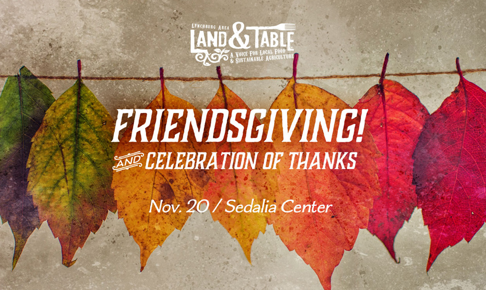Land and Table Friendsgiving Social – Nov. 20 (Sedalia Center)