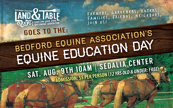 Land and Table Goes To Equine Education Day | Aug. 9