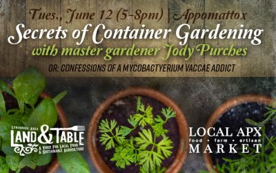 Secrets of Container Gardening – June 12 (Appomattox)