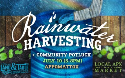 Rainwater Harvesting and Potluck – July 10 (Appomattox)