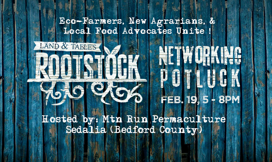 Rootstock Networking Potluck – CANCELED DUE TO WINTER WEATHER