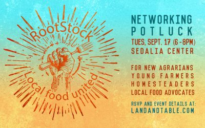 RootStock: Networking Potluck – Sept. 17 (Sedalia Center)